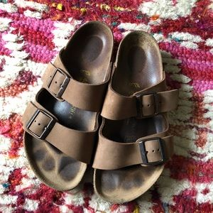 Birkenstock Arizona Double Strap Brown Sandal